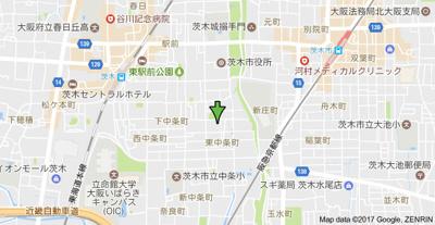 【地図】東中条町戸建 スモッティー阪急茨木店