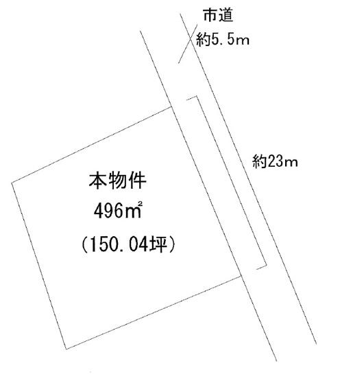 【土地図】米沢市三沢 土地