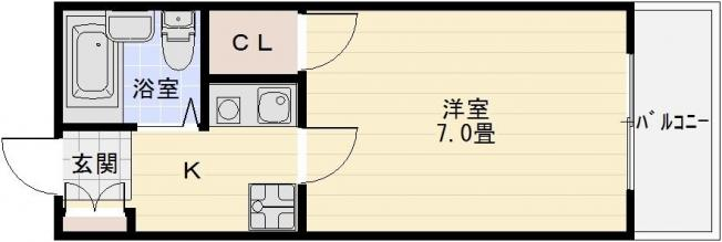 土師ノ里駅 1K ワンルーム