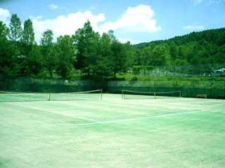 別荘内施設テニスコート
