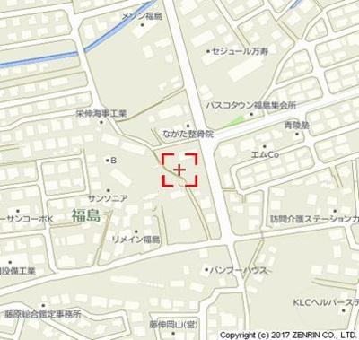 【地図】SquareVilla福島