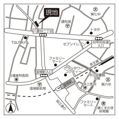 【地図】プラザ調布国領