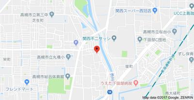 【地図】サンハイツ芝生 株式会社Roots