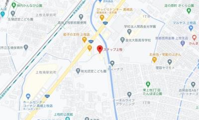 【地図】ステップ上牧 (株)Roots