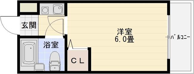 プレステージ国分 河内国分 大阪教育大前 高井田 1K