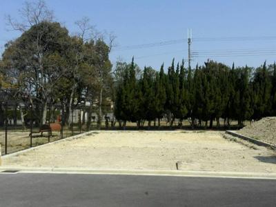 【前面道路含む現地写真】岸和田市田治米町 土地 建築条件なし