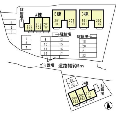 【区画図】ピュアライフA棟