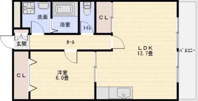 エスポワール(刑部) 1LDK