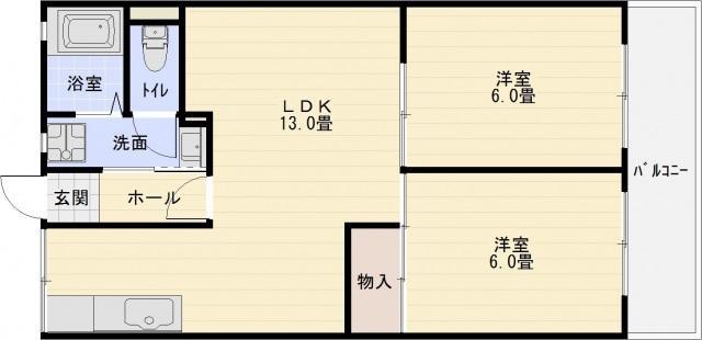小松マンション 2DK