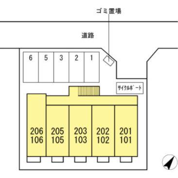 【区画図】メゾンドマロン(メゾンドマロン)