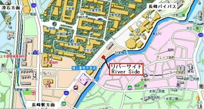 【地図】リバーサイド
