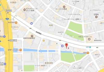 【地図】コーポエビス