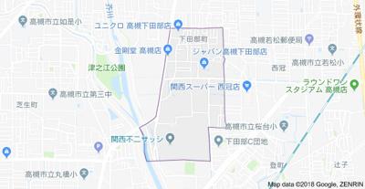 【地図】松村ハイツD棟 スモッテー阪急高槻