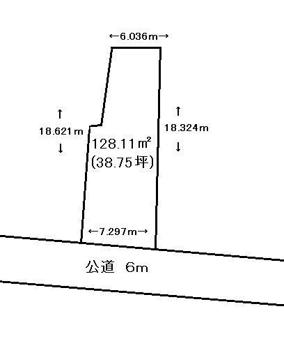 【土地図】深谷市蓮沼 198万 土地