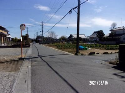 【前面道路含む現地写真】深谷市蓮沼 198万 土地