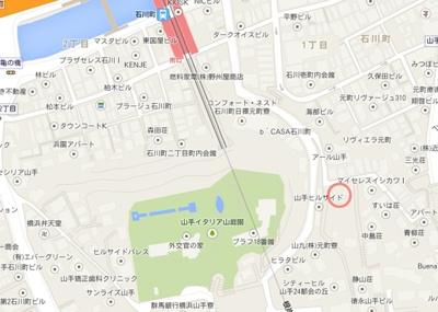 【地図】平野駐車場