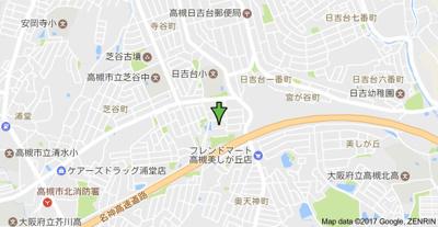 【地図】藤和コアティ高槻ハイタウンA棟 (株)Roots