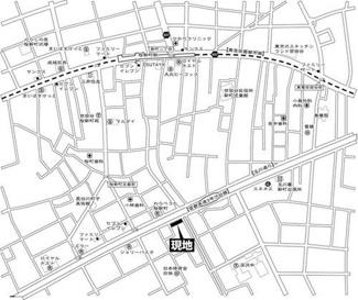 世田谷区深沢8丁目 リノベーションマンション セブンスターマンション深沢  地図