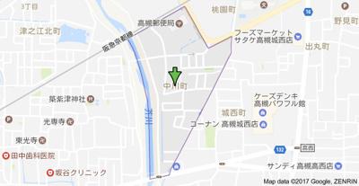 【地図】ピュアホーム中川町Ⅱ (株)Roots