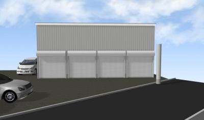 【外観】下坂部2丁目100青空ガレージ 管理番号41