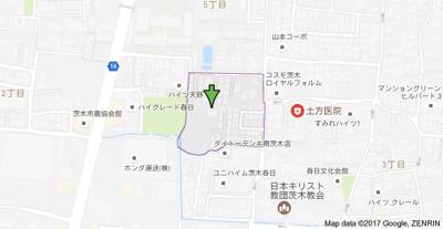 【地図】フジパレス戸建賃貸春日