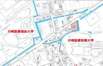 【地図】倉敷市中庄 川﨑医大 駐車場
