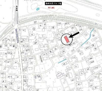 【地図】高崎市阿久津町売地