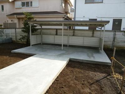 屋根付き自転車置場