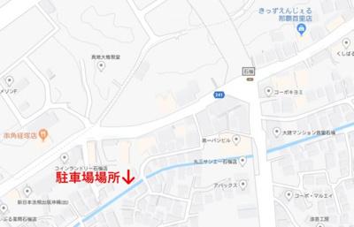【地図】石嶺パーキング