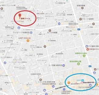 弦巻リハイム 地図
