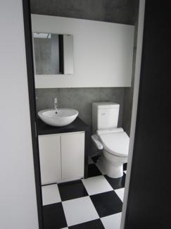 ゆったりとスペースのある洗面所 Cタイプモデルルームの様子です♪