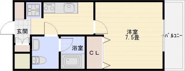 JR八尾駅 賃貸1K