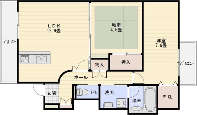 JR八尾駅 2LDK