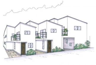参考プランで建築した場合の建物完成イメージパースです。