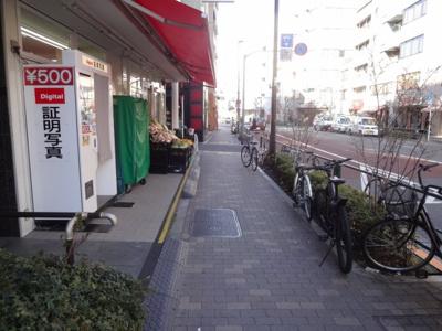 グランシャリオ根岸 物件前 尾竹橋通り沿いの物件で夜道も安心!