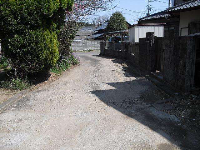 【前面道路含む現地写真】那珂市福田土地