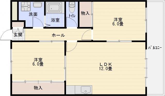 アメニティカタシモ(柏原市大県・堅下駅) 2LDK