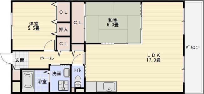 フローラ青山 八尾市 河内山本駅 2LDK