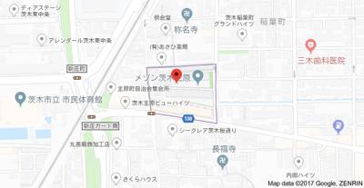 【地図】メゾン茨木主原3号棟