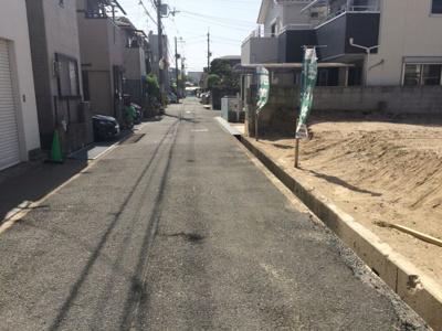 【前面道路含む現地写真】蔵垣内3丁目売土地