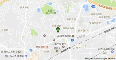【地図】パナハイツ古曽部 株式会社Roots