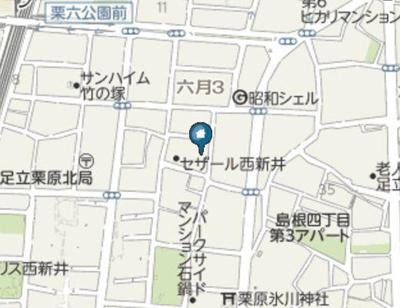 【地図】リアナ西新井