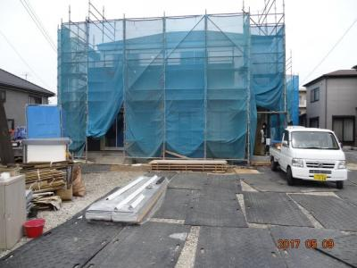 【外観】桶川市下日出谷 敷地広々82坪の南道路に面する新築分譲住宅