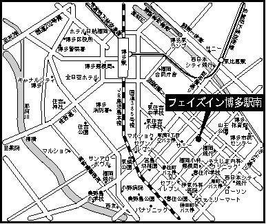 フェイズイン博多駅南(1DK) 地図