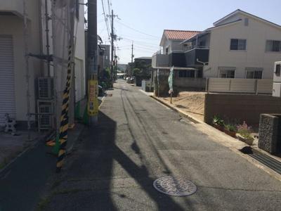 【前面道路含む現地写真】蔵垣内3丁目売り土地