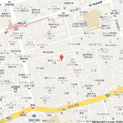 東邦シェソワ大名(2K) 地図