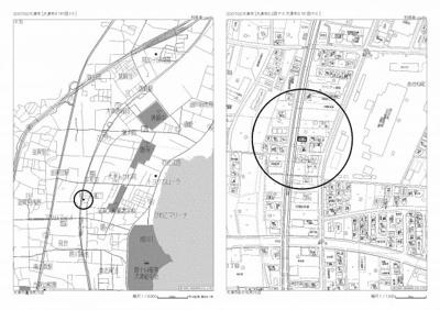 【地図】水明1丁目15-1 中古戸建