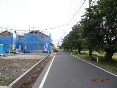 【前面道路含む現地写真】蓮田市椿山1丁目 オール電化新築分譲住宅全9棟・残3棟