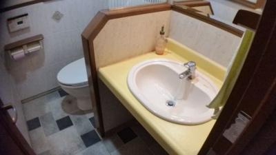 1階トイレ、洗面化粧台