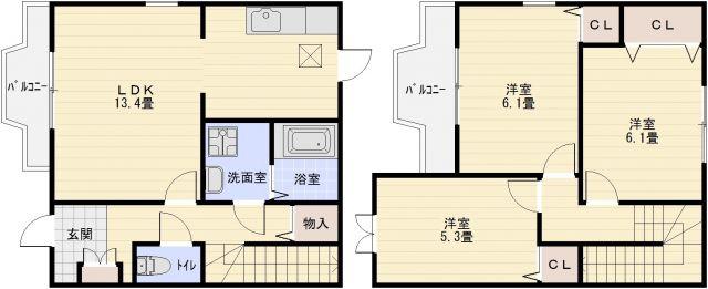 南小阪合ハイツ 3LDK